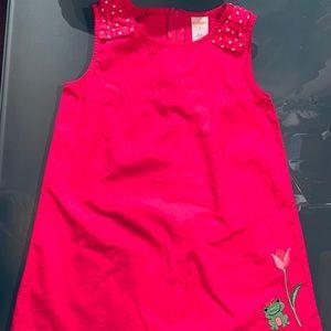 Gymboree Bright Tulip sz 4T Pink A-Line Dress